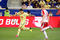 Harrison, NJ - Wednesday July 06, 2016: Silvio Romero during a friendly match between the New York Red Bulls and Club America at Red Bull Arena.