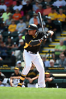 Pittsburgh Pirates infielder Gustavo Nunez (67) during the Black & Gold intrasquad game on March 2, 2015 at McKechnie Field in Bradenton, Florida.  (Mike Janes/Four Seam Images)