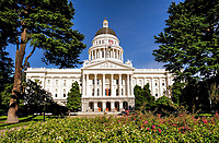 The California State Capitol Building.