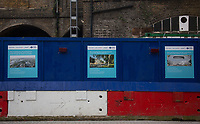 Signs show the construction work to be untaken at The White Hart Lane overground station near to Tottenham Hotspur Stadium in White Hart Lane, London, England on 19 March 2019. Photo by Andy Rowland.