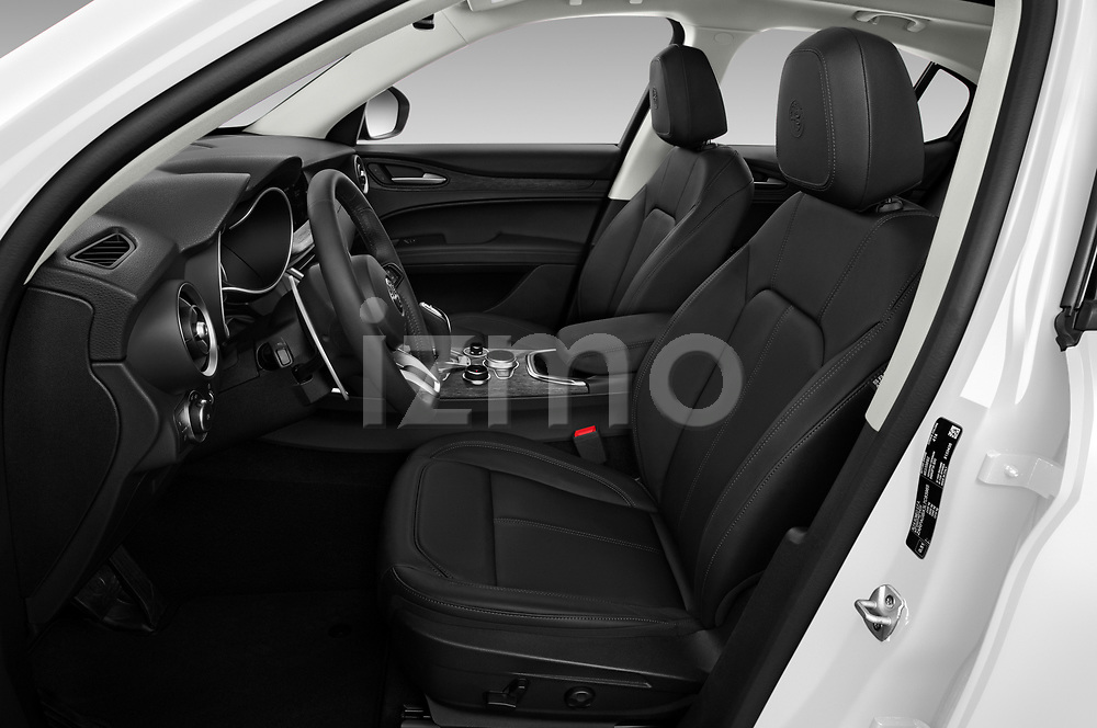 Front seat view of a 2020 Alfa Romeo Stelvio Super 5 Door SUV