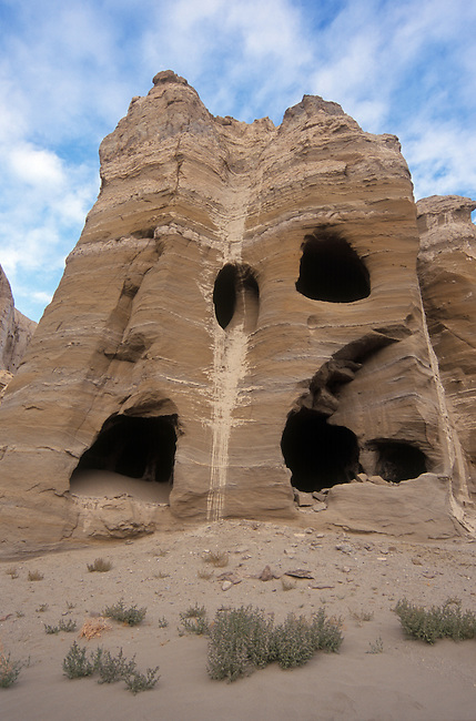 Multilevel CAVE DWELLINGS near THOLING date back to the 10th C. in the GUGE KINGDOM west of KAILASH - TIBET