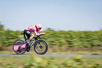 Rigoberto Urán (COL/EF Education - Nippo)<br /> <br /> Stage 20 (ITT) from Libourne to Saint-Émilion (30.8km)<br /> 108th Tour de France 2021 (2.UWT)<br /> <br /> ©kramon