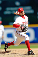 4 September 2005: Joey Eischen, pitcher for the Washington Nationals, on the mound against the Philadelphia Phillies. Eischen struck out the lone batter he faced in relief, as the Nationals defeated the Phillies 6-1 at RFK Stadium in Washington, DC. Mandatory Photo Credit: Ed Wolfstein.
