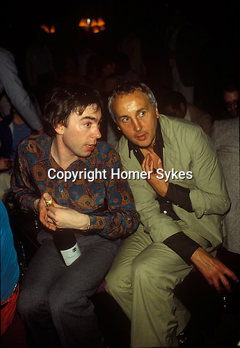 Andrew Lloyd Webber and Brian Brolly. 1980 Cannes France.  Brolly was an English showbiz entrepreneur.