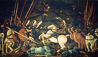 Renaissance Art:  Paolo Uccello (1396-1475)--Battle.  Galleria Uffizi.