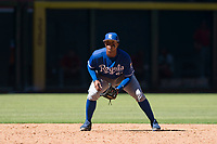 Kansas City Royals third baseman Dennicher Carrasco (51) during an Instructional League game against the Arizona Diamondbacks at Chase Field on October 14, 2017 in Scottsdale, Arizona. (Zachary Lucy/Four Seam Images)