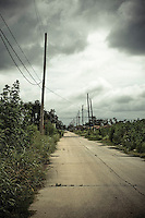 Ninth Ward Neighborhood, New Orleans. The district that was almost entirley demolishied by Hurricane Katrina and flood waters from broken adjacent levee.