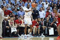 CHAPEL HILL, NC - FEBRUARY 25: Brandon Robinson #4 of the University of North Carolina passes the ball during a game between NC State and North Carolina at Dean E. Smith Center on February 25, 2020 in Chapel Hill, North Carolina.