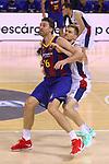 Liga ENDESA 2020/2021. Jornada: 32.<br /> FC Barcelona vs Baxi Manresa: 97-89.<br /> Pau Gasol vs Scott Eatherton.