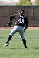 Terry Doyle  -  Chicago White Sox - 2009 spring training.Photo by:  Bill Mitchell/Four Seam Images