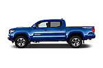 Car Driver side profile view of a 2016 Toyota Tacoma TRD Sport 4 Door Pickup Side View