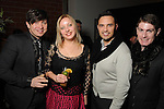 From left: Evgeny Krasilnikov, Marina Permyakova, Jason Spencer and James Napier at the Light as Air Fashion show with leather fashions by Jose Sanchez and performances by Vault with Choreography by Amy Eli at Vault Houston Saturday Jan.10, 2015.(Dave Rossman For the Chronicle)