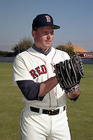 Boston Red Sox pitcher Roger Clemens during spring training circa 1991 at Chain of Lakes Park in Winter Haven, Florida.  (MJA/Four Seam Images)
