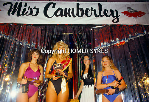 Miss Camberley ,Beauty Competition. Winner.  Surrey England UK 1980s.