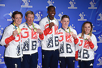 Hannah McLeod, Nick Skelton, Lutalo Muhammad, Nile Wilson and Amy Tinkler<br /> celebrating the winners in this year's National Lottery Awards, the search for the UK's favourite Lottery-funded projects.  The glittering National Lottery Stars show, hosted by John Barrowman, is on BBC One at 10.45pm on Monday 12 September.<br /> <br /> <br /> ©Ash Knotek  D3151  09/09/2016