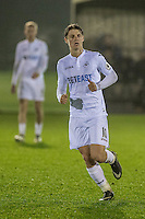 Monday  19 December 2014<br /> Pictured: George Byers of Swansea City in action <br /> Re: Swansea City U23 v Middlesbrough u23 at the Landore Training Facility, Swansea, Wales, UK