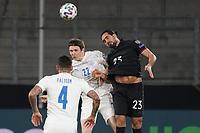 Kopfball Emre Can (Deutschland Germany) gegen Jon Dadi Boedvarsson (Island Iceland) - 25.03.2021: WM-Qualifikationsspiel Deutschland gegen Island, Schauinsland Arena Duisburg
