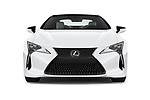 Car photography straight front view of a 2018 Lexus LC 500 4 Door Sedan