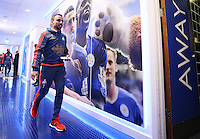 Leon Britton of Swansea City arrives before the Barclays Premier League match between Leicester City and Swansea City played at The King Power Stadium, Leicester on April 24th 2016