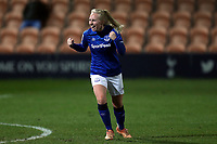 Inessa Kaagman of Everton women  celebrates scoring the second goal during Tottenham Hotspur Women vs Everton Women, Barclays FA Women's Super League Football at the Hive Stadium on 12th February 2020