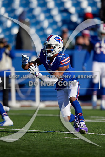 Buffalo Bills Zay Jones (11) during pre-game warmups before an NFL football game against the New York Jets, Sunday, December 9, 2018, in Orchard Park, N.Y.  (Mike Janes Photography)