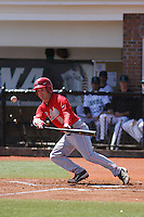 Ohio State Buckeyes infielder Kirby Pellant #8 at bat during a game against the Coastal Carolina Chanticleers at Watson Stadium at Vrooman Field on March 11, 2012 in Conway, SC.  Coastal Carolina defeated Ohio State 3-2. (Robert Gurganus/Four Seam Images)