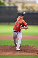 Houston Astros pitcher Tyler Brown (61) during a Minor League Spring Training game against the Washington Nationals on April 27, 2021 at FITTEAM Ballpark of the Palm Beaches in Palm Beach, Fla.  (Mike Janes/Four Seam Images)