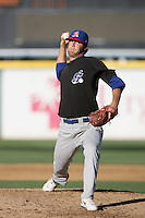 Justin Murray of the Stockton Ports during game against the Rancho Cucamonga Quakes at The Epicenter in Rancho Cucamonga,California on August 15, 2010. Photo by Larry Goren/Four Seam Images