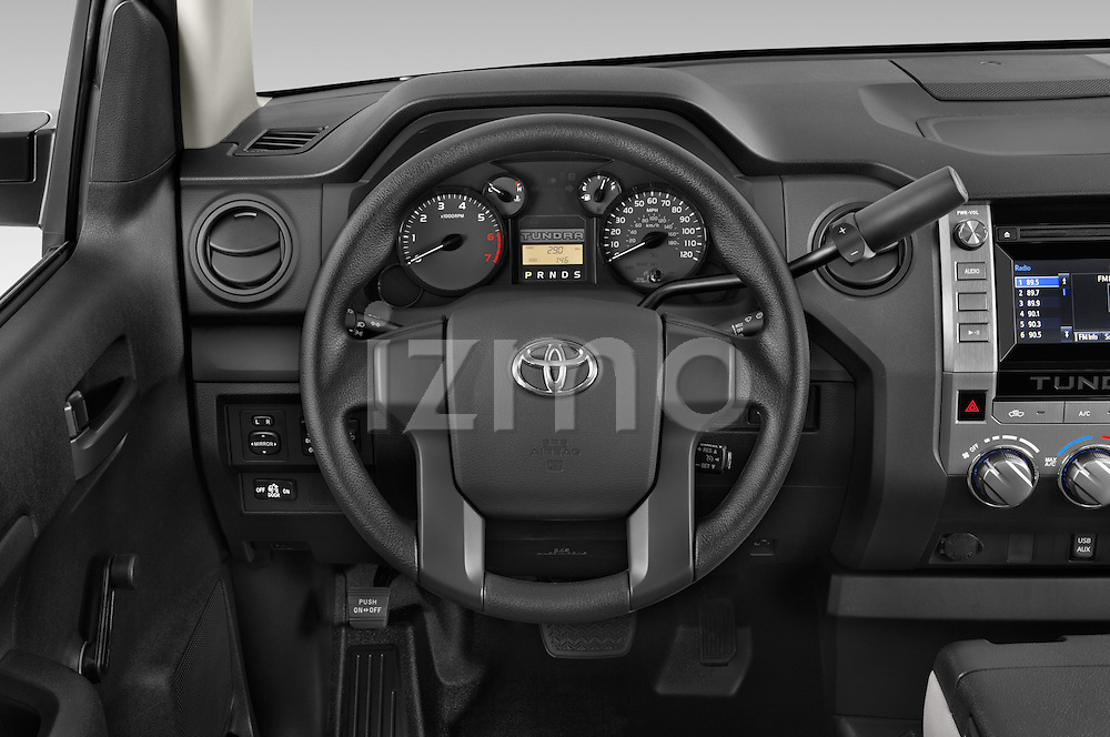 Car pictures of steering wheel view of a 2017 Toyota Tundra 5.7 Auto SR Regular Cab 2 Door Truck Steering Wheel