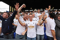 Pictured: Swansea supporters cheers on<br />