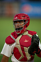 Palm Beach Cardinals catcher Luis Rodriguez (41) during a game against the Daytona Tortugas on May 4, 2021 at Roger Dean Chevrolet Stadium in Jupiter, Florida.  (Mike Janes/Four Seam Images)