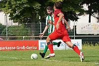 Emre Kanman (Klein-Gerau) zieht ab und erzielt das 2:3 - 15.08.2021 Büttelborn: SV Klein-Gerau vs. SKG Bauschheim, A-Liga
