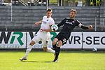 Christian Strohdiek (Wuerzburger Kickers, Nr. 32) schlägt den Ball noch bevor Julius Biada (SV Sandhausen, Nr. 10) ihn bekommt beim Spiel in der 2. Bundesliga, SV Sandhausen - Wuerzburger Kickers.<br /> <br /> Foto © PIX-Sportfotos *** Foto ist honorarpflichtig! *** Auf Anfrage in hoeherer Qualitaet/Aufloesung. Belegexemplar erbeten. Veroeffentlichung ausschliesslich fuer journalistisch-publizistische Zwecke. For editorial use only. For editorial use only. DFL regulations prohibit any use of photographs as image sequences and/or quasi-video.
