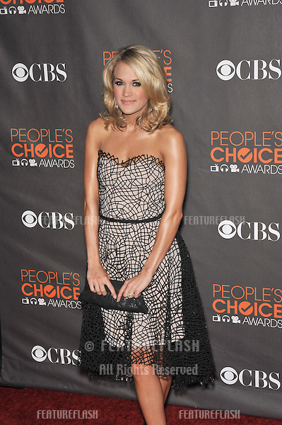 Carrie Underwood at the 2010 People's Choice Awards at the Nokia Theatre L.A. Live..January 6, 2010  Los Angeles, CA.Picture: Paul Smith / Featureflash