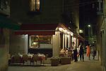 Venice Italy 2009. Restaurant dinning outside.
