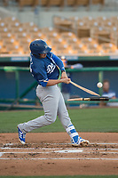 Los Angeles Dodgers shortstop Omar Estevez (27) during a Minor League Spring Training game against the Seattle Mariners at Camelback Ranch on March 28, 2018 in Glendale, Arizona. (Zachary Lucy/Four Seam Images)