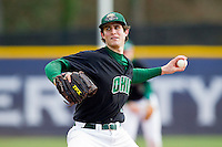 Ohio Bobcats starting pitcher Marck Paliotto in action against the High Point Panthers at Willard Stadium on March 6, 2013 in High Point, North Carolina.  The Panthers defeated the Bobcats 4-1.  (Brian Westerholt/Four Seam Images)