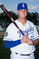 Logan Nottebrok (27) of the Burlington Royals poses for a photo prior to the game against the Princeton Rays at Burlington Athletic Stadium on June 24, 2016 in Burlington, North Carolina.  The Rays defeated the Royals 16-2.  (Brian Westerholt/Four Seam Images)