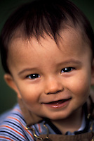 1 year old Thai-Caucasian baby bo