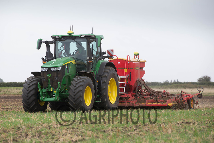 30.9.2020 Drilling Winter wheat in the Lincolnshire fens <br /> ©Tim Scrivener Photographer 07850 303986<br />      ....Covering Agriculture In The