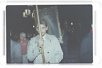Human Life International's 14th annual world conference on life, love and family at the Hotel Radisson in Montreal between April 19-23,1995<br /> <br /> On opening night, a candlelight procession through the streets of Old Montreal after a Mass at Notre Dame Basilica was marred by a protest from a crowd variously estimated at 1,000 to 3,000. <br /> <br /> <br /> PHOTO : Agence Quebec Presse