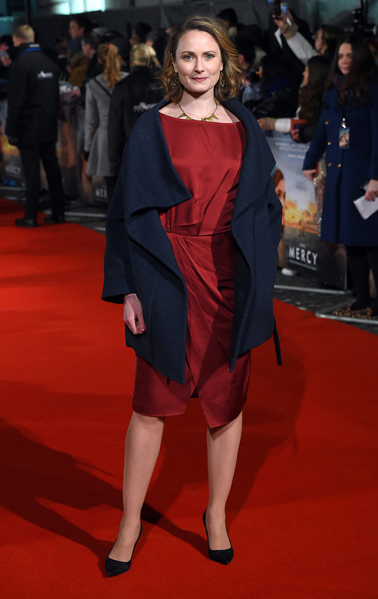 """Anna Madeley<br /> arriving for the premiere of """"The Mercy"""" at the Curzon Mayfair, London<br /> <br /> <br /> ©Ash Knotek  D3375  06/02/2018"""