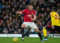 Harry Maguire of Man Utd during the Premier League match between Watford and Manchester United at Vicarage Road, Watford, England on 22 December 2019. Photo by Andy Rowland.