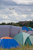 Camp for Climate Action at Heathrow, West London, the world's busiest airport.