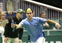 23-2-06, Netherlands, tennis, Rotterdam, ABNAMROWTT, Daniele Bracciali in his match against Alex Calatrava