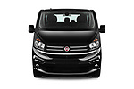 Car photography straight front view of a 2018 Fiat Talento-Combi Panorama Door Passenger Van Front View