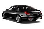 Car pictures of rear three quarter view of 2019 Mercedes Benz S-Class - 4 Door Sedan Angular Rear