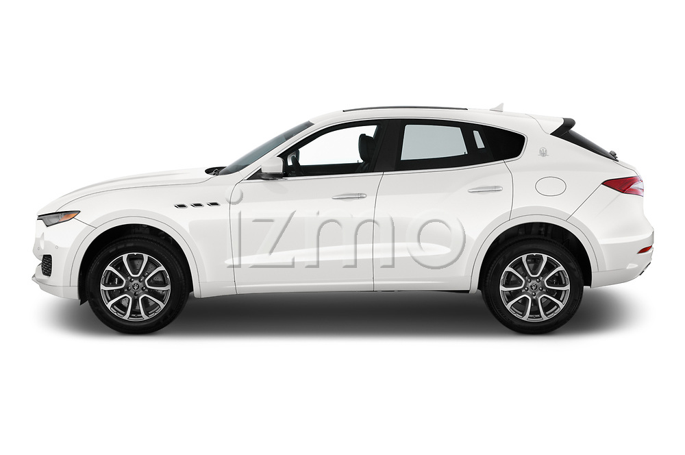 Car driver side profile view of a 2020 Maserati Levante S 5 Door SUV