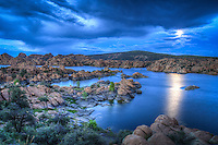 "Blue Moon Rising - Arizona - Watson Lake - Granite Dells - Prescott. Special Full ""blue"" Moon - August 2012"